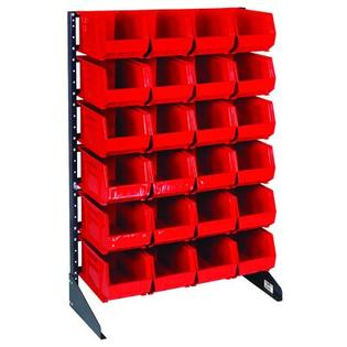 "Quantum Single Sided Steel Rail Rack w/ Bins (Complete Package) -Bin Color:Blue, Bin Dimensions & Number of Rails:3"" Hx4 1/8"" Wx7 3/8"" D at Sears.com"