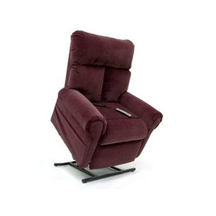 "Pride Mobility Elegance Collection Medium 3-Position Lift Chair with Split Back - Quick Ship - Fabric: Wine, Seat Width: Standard - 20"" at Sears.com"