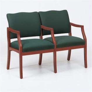 Lesro Franklin Two Seats - Arms: Center Arm Included, Finish: Walnut, Material: Renaissance Chalk Vinyl at Sears.com