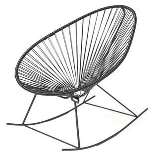 Innit Acapulco Rocking Chair - Weave Color: Black, Frame Color: White at Sears.com