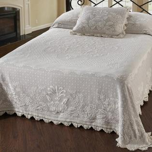 Maine Heritage Weavers Abigail Adams Matelasse Bedspread (Set of 3) - Size: Full, Color: Antique