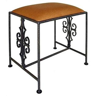 Grace Gothic Vanity Bench - Color: Veronica, Finish: Cobblestone, Size: Large