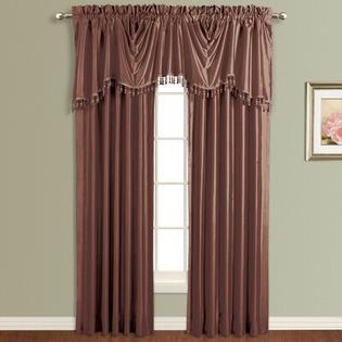 United Curtain Co. Anna Silk Rod Pocket Curtain Panel (Set of 4) - Size: 63