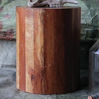 Creative Co-op Terrain Round Reclaimed Hardwood Stool