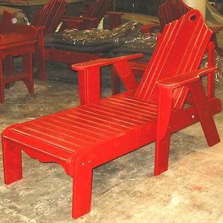 Uwharrie Bridgehampton Chaise Lounge - Finish: Persimmon Wash Adjustable Seat: Yes