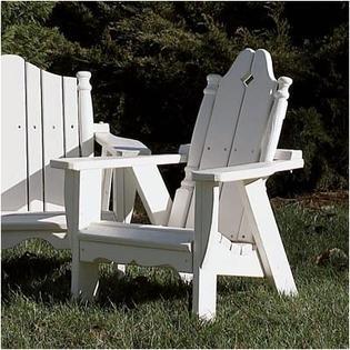 Uwharrie Nantucket Kid's Adirondack Chair - Finish: Coffee (Distressed)