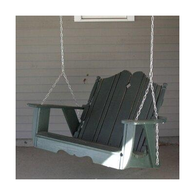 Uwharrie Nantucket Porch Swing - Finish: B.T. Aqua Wash, Size: 4'
