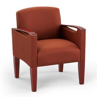 Lesro Brewster Oversized Guest Chair - Arm / Leg Finish: Medium, Material: Core - Eve