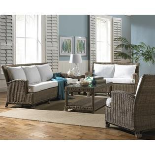 Panama Jack Sunroom Exuma 5 Piece Living Room Set - Color: Bay Brown