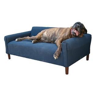 MaxComfort BioMedic Modern Pet Sofa Bed - Fabric: Faux Leather - Blue Size: XX-Large