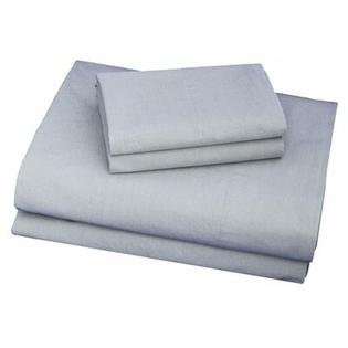 Thread Experiment Washed Solid Luxurious, Long-staple 100% Cotton Percale Sheet Set - Size: Twin, Color: Charcoal