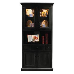 Eagle Furniture Manufacturing Coastal Corner China Cabinet - Finish: Soft White, Door Type: Glass