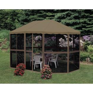 Gazebo Penguin Add-A-Room 11.3 Ft. W x 7.5 Ft. D Aluminum Gazebo - Structure Color: Sand, Roof Color: Taupe