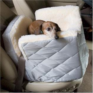 Snoozer Lookout I Dog Car Seat - Small/Black Quilt
