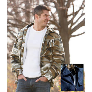 Unique's Shop Men's Sherpa-Lined Fleece Jackets-Navy XL 46/48 at Sears.com