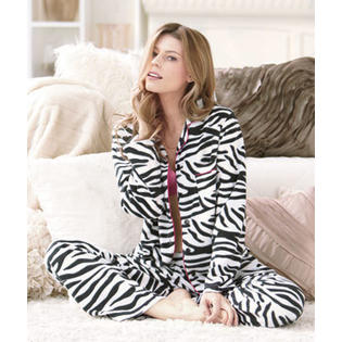 Unique's Shop Women's Favorite Fleece Pajamas-Zebra XL 18/20 at Sears.com