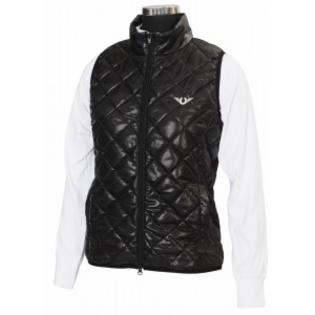 TuffRider Alpine Quilted Vest Ladies 1X Black at Sears.com