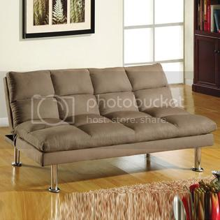 Import Direct Furniture Convertible Beige Soft Microfiber Cushioned Futon Sofa Bed Sleeper at Sears.com