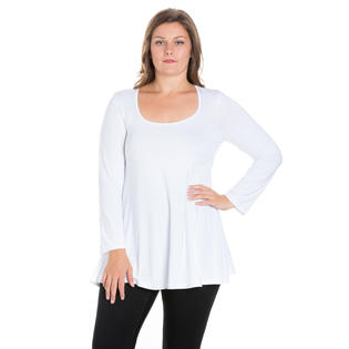 24/7 Comfort Apparel 24/7 Comfort Womens Long Sleeve Crew Neck Tunic Top at Sears.com
