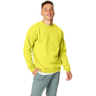 Hanes 7.8 oz. ComfortBlend EcoSmart 50/50 Fleece Crew SAFETY GREEN L at Sears.com