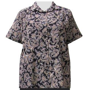 2dd60186b20238 A Personal Touch Taupe Paisley Design Women's Plus Size Blouse
