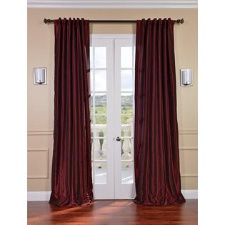 Exclusive Fabrics & Furnishings, LLC Ruby Vintage Textured Faux Dupioni Silk Curtains, 50 X 120 at Sears.com