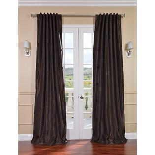 Exclusive Fabrics & Furnishings, LLC Coffee Bean Vintage Textured Faux Dupioni Silk Curtains, 50 X 96 at Sears.com