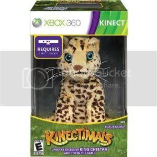 Microsoft Kinectimals Kinect  Limited Edition Xbox 360 Video Game with King Cheetah Plush Bundle at Sears.com