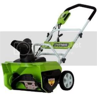 (Best Selling Snow Blower of the Upcoming 2011 Season!) Greenworks 26032 20-Inch 12 Amp Electric Snow Thrower