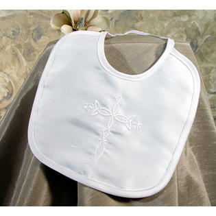 Little Things Mean a Lot Silk Dupioni Bib with Embroidered Cross at Sears.com