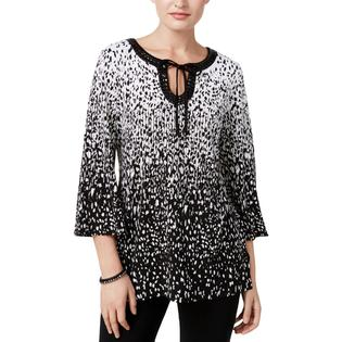 d73f7abc5c7 JM COLLECTION Petites Womens Day To Night Dressy Blouse