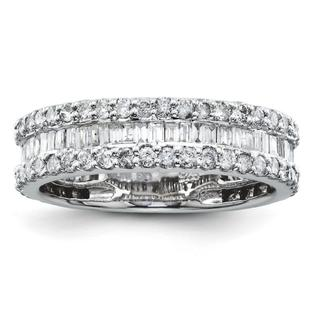 Jewelryweb 14k White Gold Diamond Wedding Band Ring at Sears.com