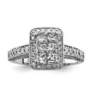 Jewelryweb 14k White Gold Diamond Bridal Engagement Ring at Sears.com