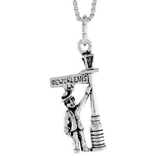 Sabrina Silver Sterling Silver Man Leaning in New Orleans Light Post Pendant, 7/8 inch tall at Sears.com