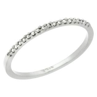 Sabrina Silver 14k White Gold 1mm Diamond Ring Band w/ 0.13 Carat Brilliant Cut ( H-I Color; VS2-SI1 Clarity ) Diamonds at Sears.com