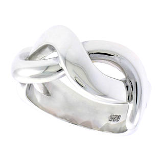Sabrina Silver Sterling Silver Infinity Sign Ring Flawless finish 3/8 inch wide, size 7.5 at Sears.com