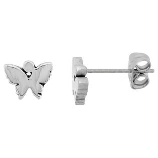 Sabrina Silver Small Stainless Steel Butterfly Stud Earrings, 1/4 inch high at Sears.com
