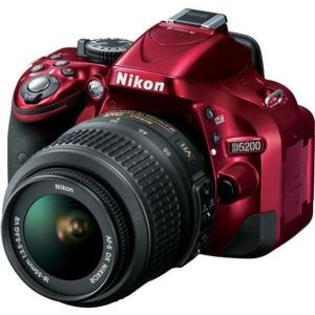 Nikon D5200 Digital SLR Camera + 18-55mm G VR DX AF-S Zoom Lens (Red) at Sears.com
