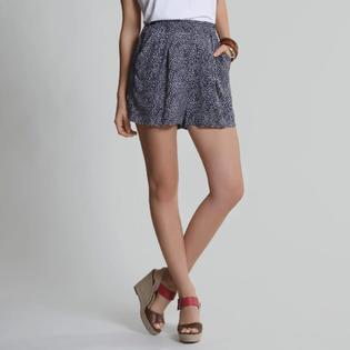 UK Style by French Connection Womens Shorts Smocked Waist Navy at Sears.com