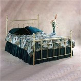 Hillsdale Chelsea Metal Poster Bed in Polished Brass Finish - Full at Sears.com
