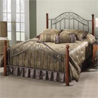 Hillsdale Martino Metal Poster Bed in Smoke Silver Finish - Queen at Sears.com