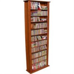 Venture Horizon 76-Inch Tall CD DVD Wall Rack Media Storage - Oak at Sears.com
