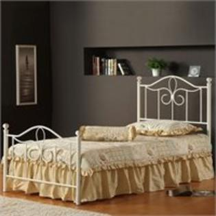 Hillsdale Westfield Metal Poster Bed in Off White - Twin at Sears.com