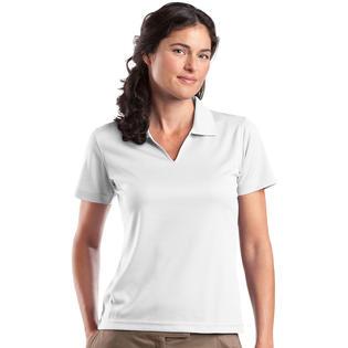 Sport-Tek L469 Women's V-Neck Johnny Collar Polo Shirt