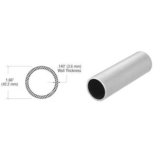 "C.R. Laurence CRL Brushed Stainless 1-1/4"" Schedule 40 Pipe Rail Tubing-20 Ft at Sears.com"