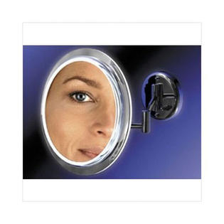 "Zadro Products, Inc. Zadro 9"" Makeup Magnifying Vanity Mirror, Satin Nickel, Surround Light, Dual Arm, 5X Magnification - Hardwire at Sears.com"