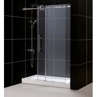 DreamLine DL-6611L-08CL Tub To Shower Kit: ENIGMA-X Shower Door & 30 x 60 AMAZON Shower Base, Polished Stainless Steel Finish at Sears.com