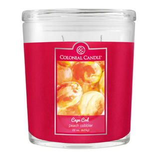 CC home Furnishings Pack of 4 Colonial Candle Peach Cobbler Scented Hot Pink Jar Candles 8 oz at Sears.com