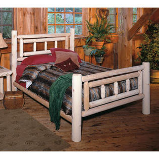 "Eco-Friendly Furnishings 82"" Cedar Log Style Handcrafted Deluxe Wooden Queen Bed Frame at Sears.com"