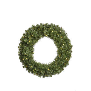 VCo 12' Pre-Lit Grand Teton Artificial Christmas Wreath ? Warm Clear LED Lights at Sears.com